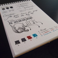 Parker Quink in Black - Handwritten Fountain Pen Ink Review