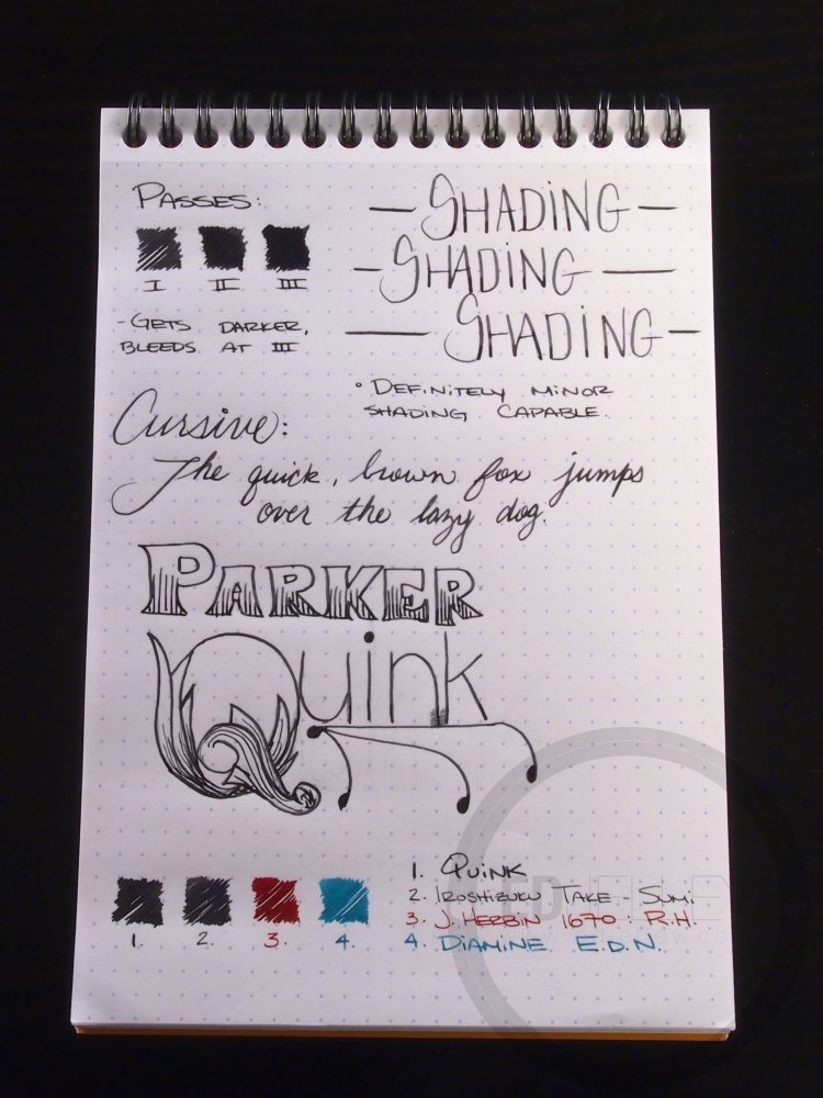 Parker Quink Black Ink Handwritten Review 101