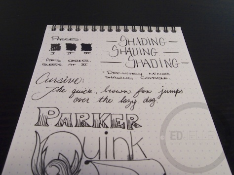 Parker Quink Black Ink Handwritten Review 104