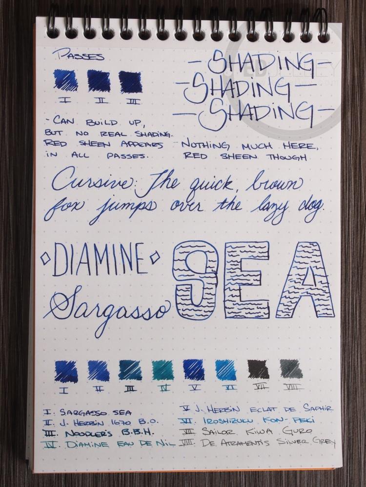 Diamine Sargasso Sea Foutnain Pen Ink 2