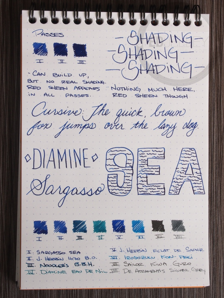 Diamine Sargasso Sea Foutnain Pen Ink 2