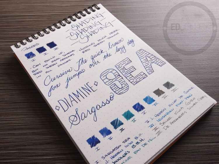 Diamine Sargasso Sea Foutnain Pen Ink 3