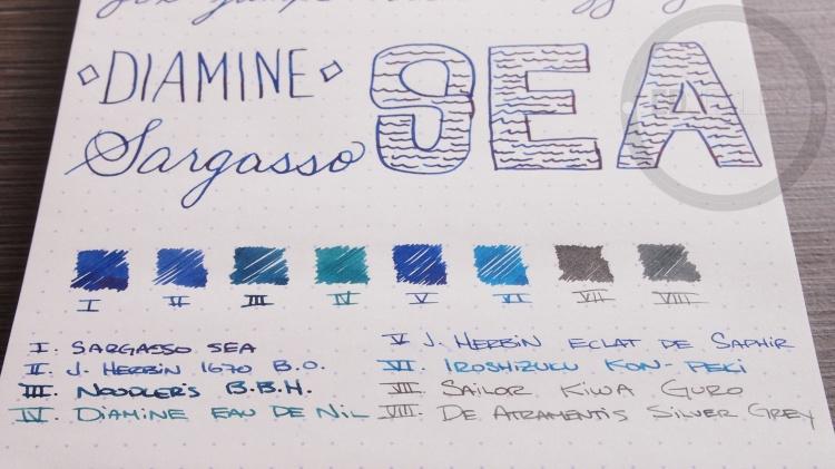 Diamine Sargasso Sea Foutnain Pen Ink 6
