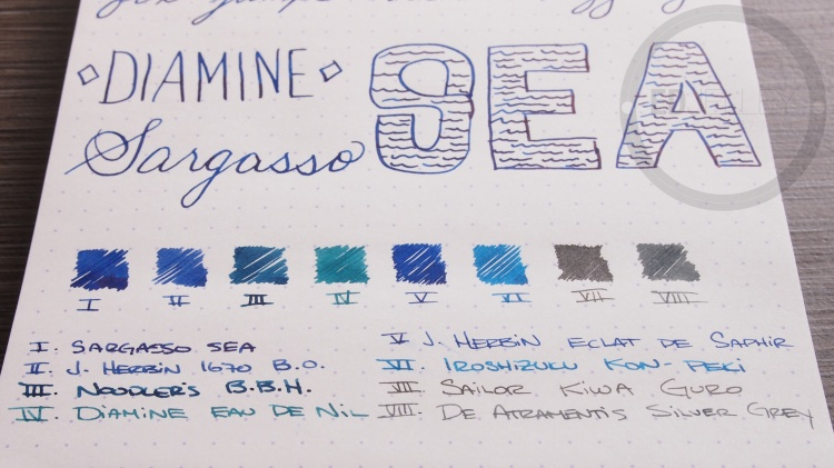 Diamine Sargasso Sea Foutnain Pen Ink 6