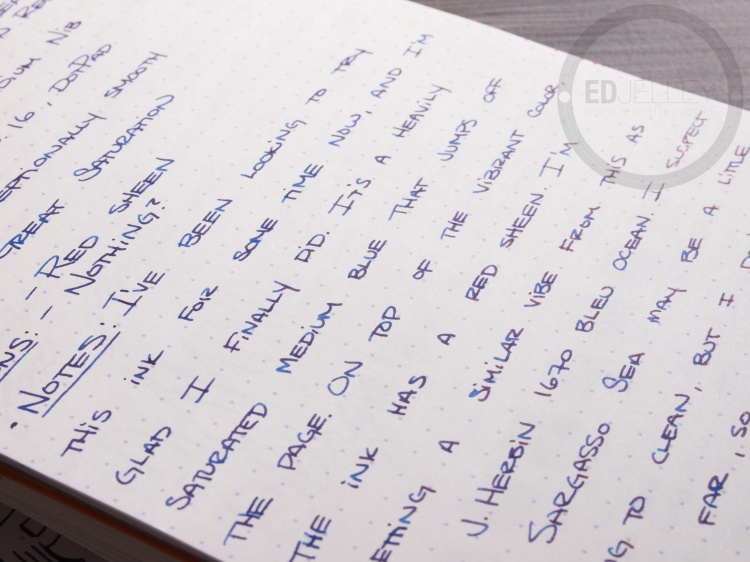 Diamine Sargasso Sea Foutnain Pen Ink 9