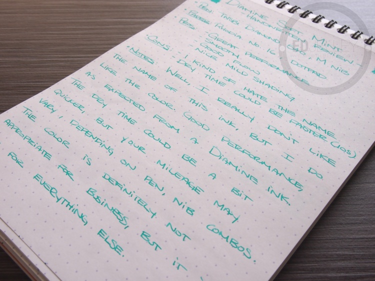 Diamine Soft Mint Fountain Pen Ink 11