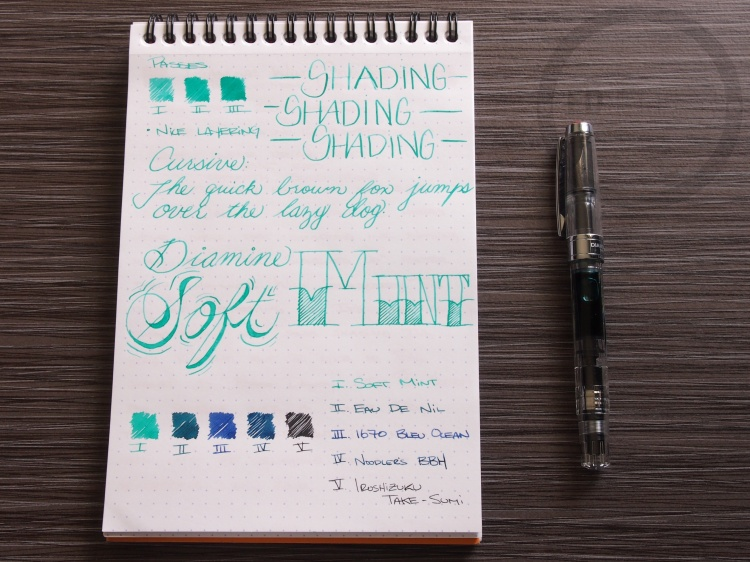 Diamine Soft Mint Fountain Pen Ink 2