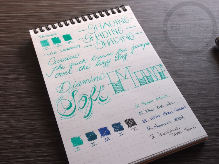 Diamine Soft Mint Fountain Pen Ink 5