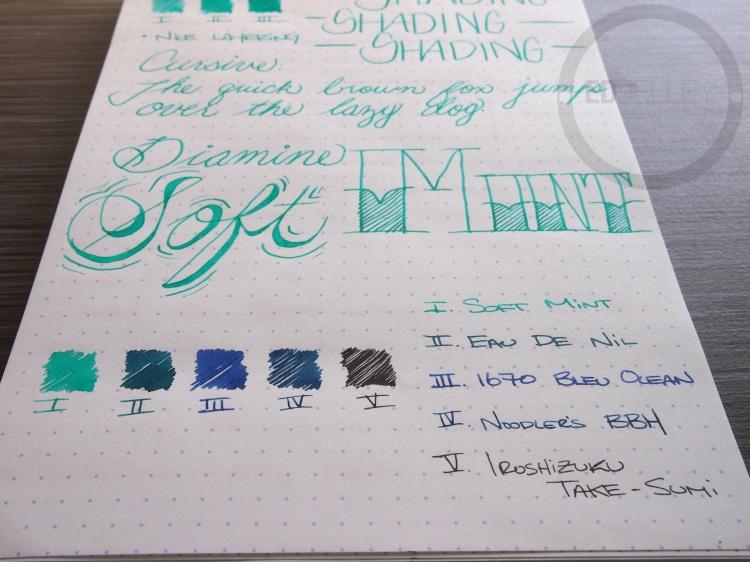 Diamine Soft Mint Fountain Pen Ink 6