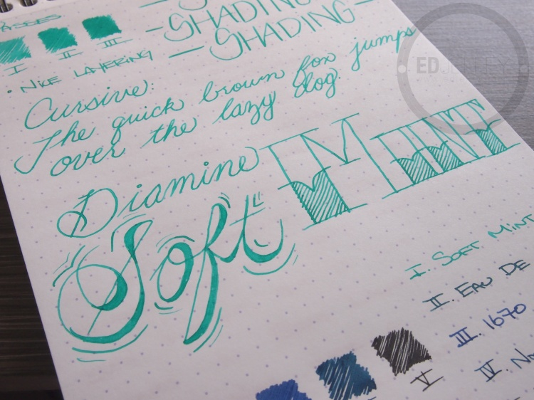 Diamine Soft Mint Fountain Pen Ink 7