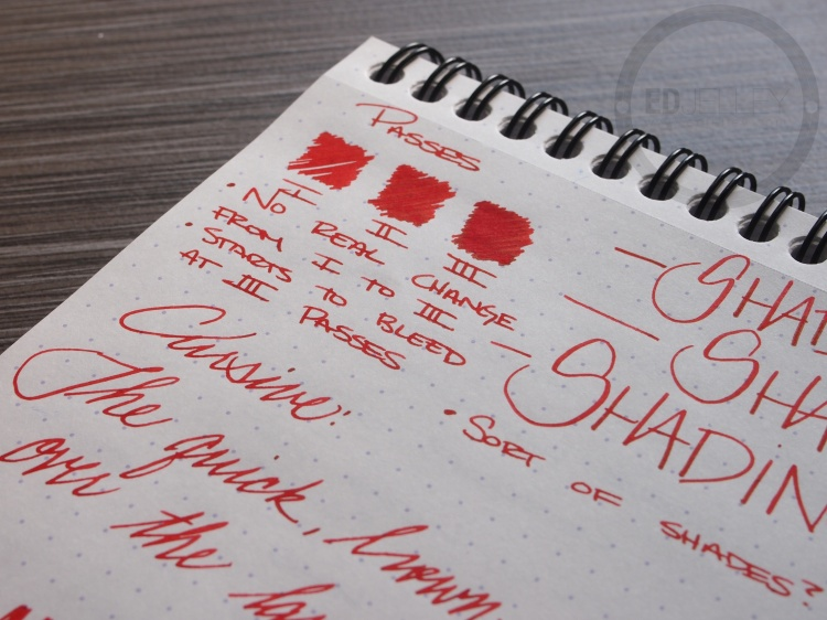 Diamine Wild Strawberry Fountain Pen Ink Review 6