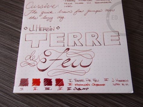 J. Herbin Terre de Feu Fountain Pen Ink Review 10