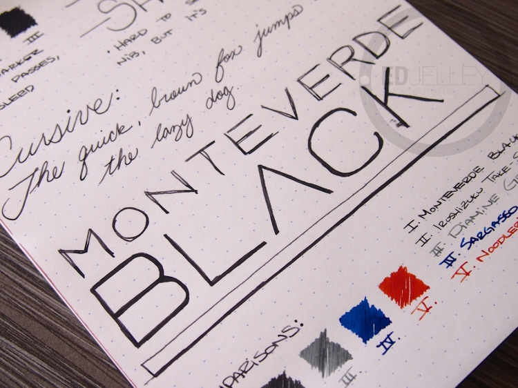 Monteverde Black Fountain Pen Ink Review 7