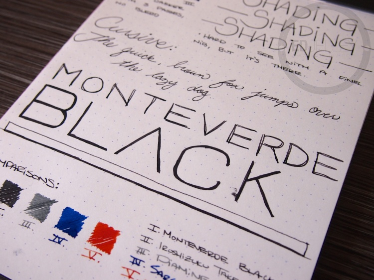 Monteverde Black Fountain Pen Ink Review 8