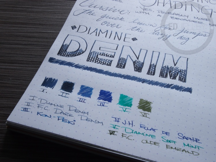 Diamine Denim Fountain Pen Ink Review 7