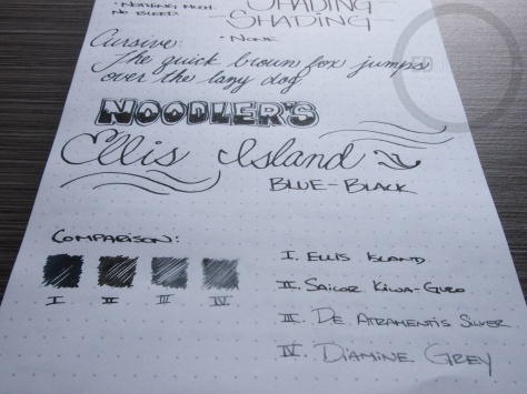 Noodler's Ellis Island Blue Black Fountain Pen Ink Review 9