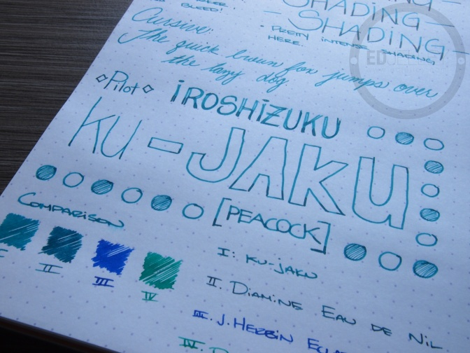 Pilot Iroshizuku Ku-Jaku – Handwritten Ink Review