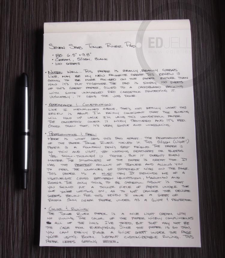 Seven Seas Tomoe River Paper Pad 10
