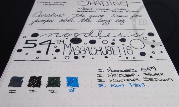 Noodler's 54th Massachusetts Ink Review