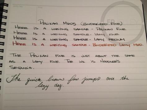 Pelikan M605 Fine Nib Writing Sample