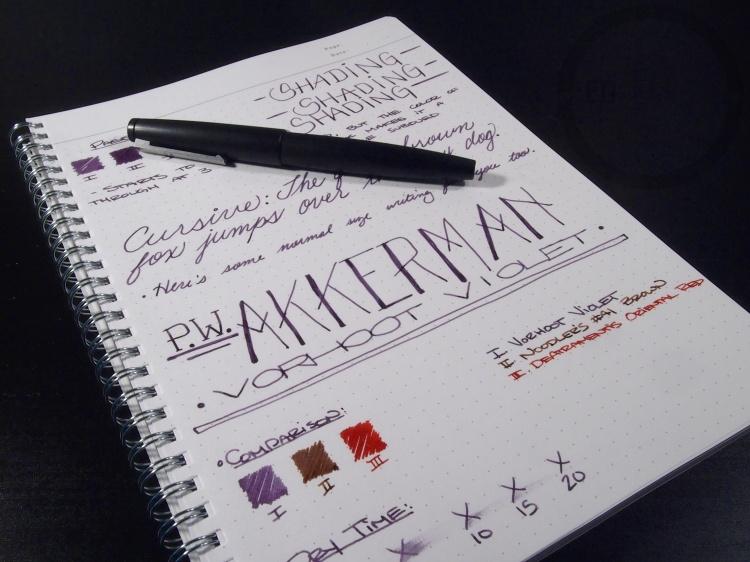 PW Akkerman Vorhoot Violet Fountain Pen Ink 10