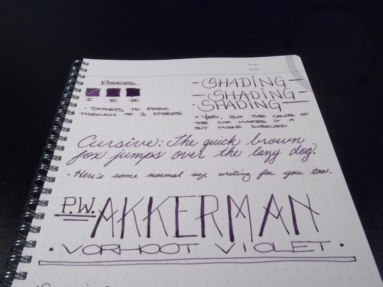 PW Akkerman Vorhoot Violet Fountain Pen Ink 8