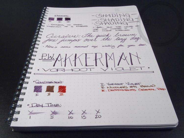 PW Akkerman Vorhoot Violet Fountain Pen Ink 9