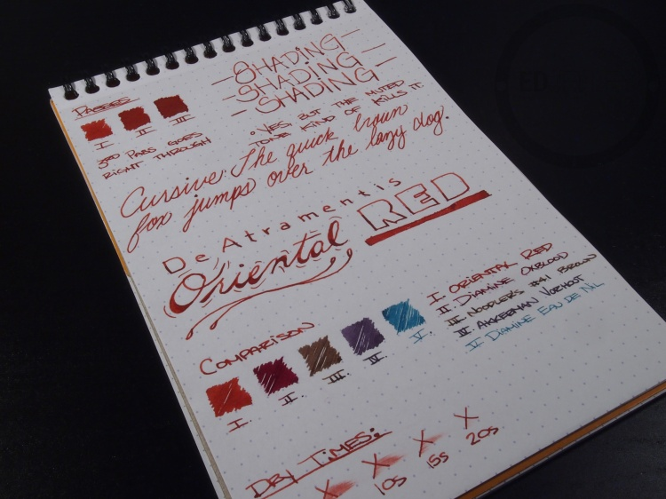 DeAtramentis Oriental Red Fountain Pen Ink Review 10