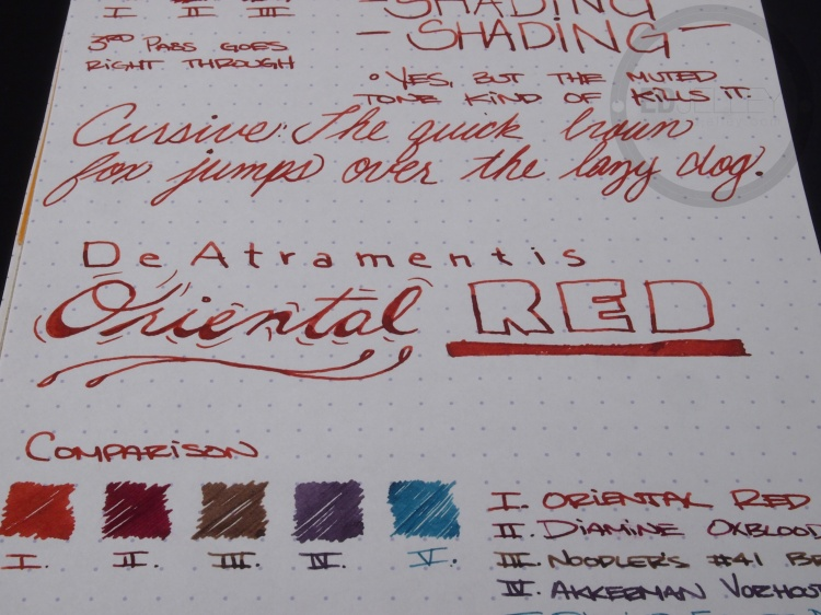 DeAtramentis Oriental Red Fountain Pen Ink Review 8