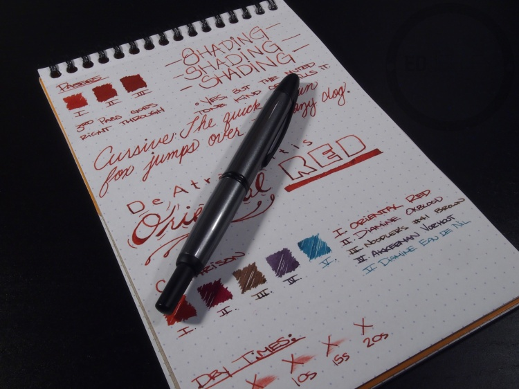 DeAtramentis Oriental Red Fountain Pen Ink Review 9