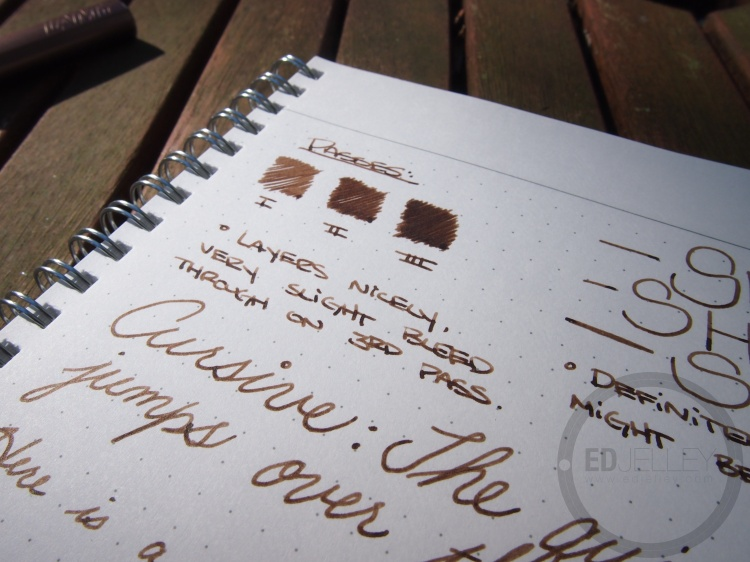 Noodler's Brown #41 - Handwritten Fountain Pen Ink Review