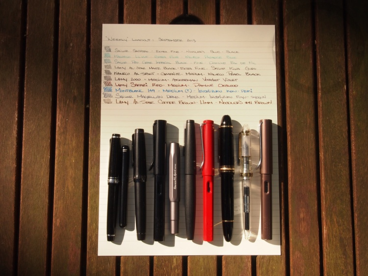 September Fountain Pen Loadout 3