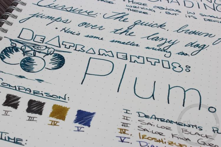 De Atramentis Plum Fountain Pen Ink Review