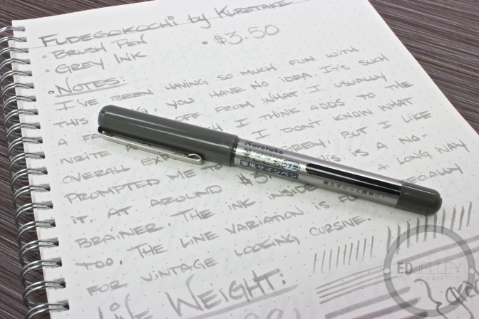 Kuretake Fudegokochi Brush Pen Review Grey