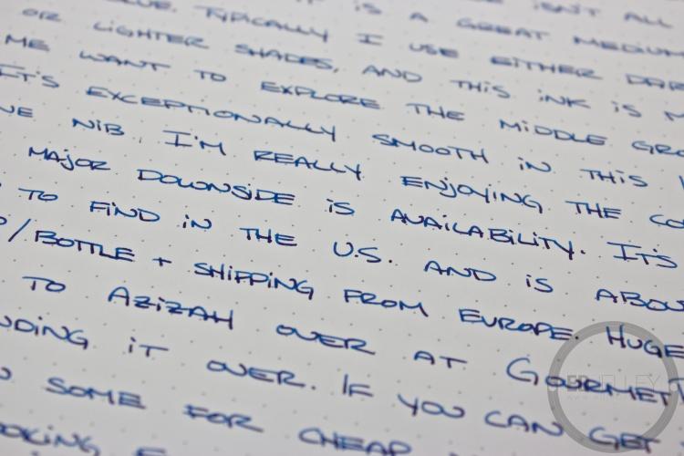 P.W. Akkerman Shocking Blue Fountain Pen Ink Review