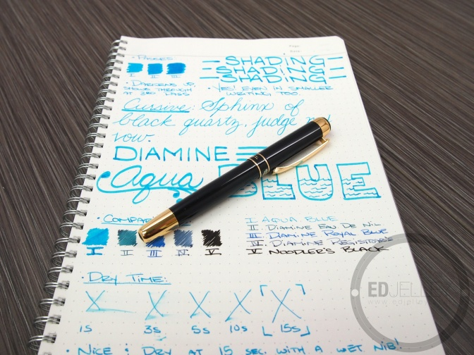 Diamine Aqua Blue – Ink Review