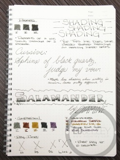 Diamine Salamander Fountain Pen Ink Review