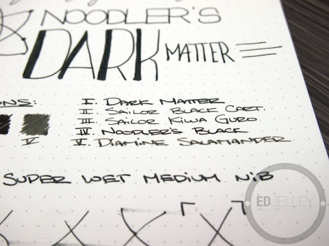 Noodler's Dark Matter Ink Fountain Pen Ink Review