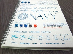 Noodler's Navy Fountain Pen Ink Review