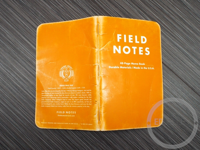 Field Notes Colors Edition Update and Why I Now Like Orange…