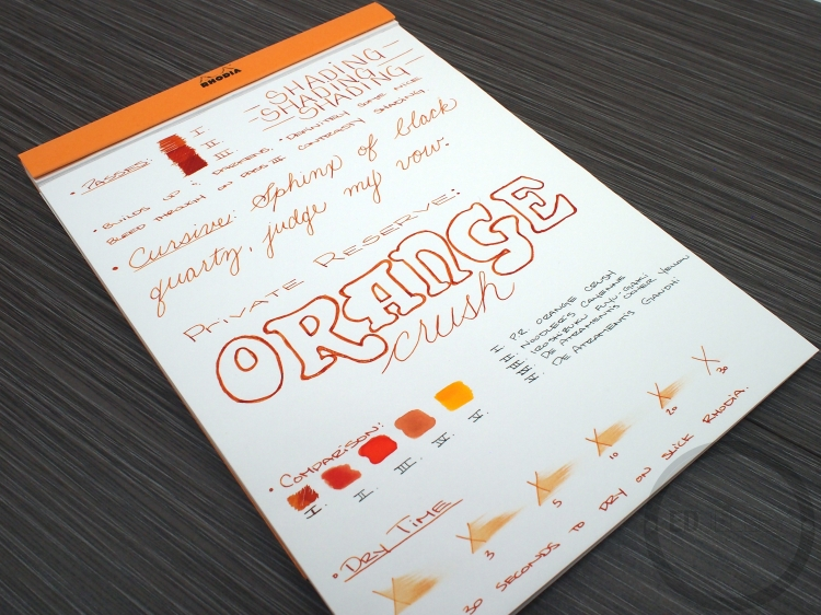 Private Reserve Orange Crush Ink Review