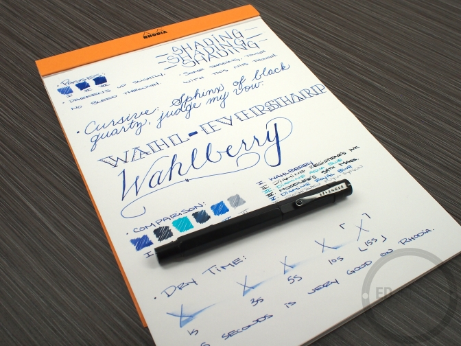 Wahl Eversharp Wahlberry Fountain Pen Ink Review