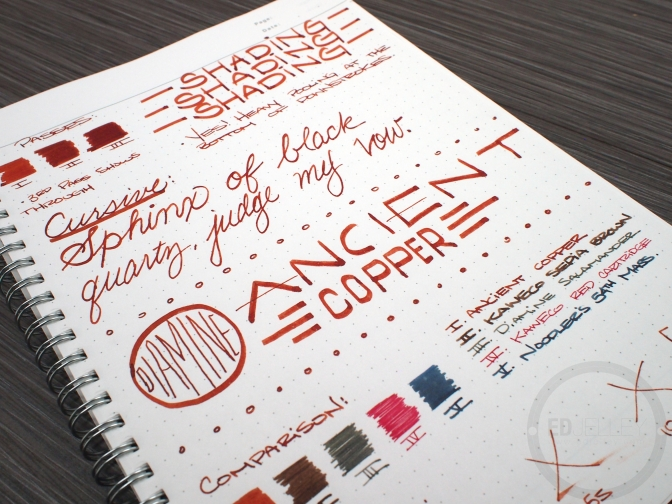 Diamine Ancient Copper – Ink Review