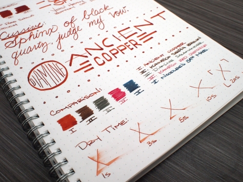 Diamine Ancient Copper Fountain Pen Ink Review