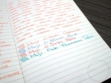 Muji Hexagonal Gel Pen Orange 0.4mm Review