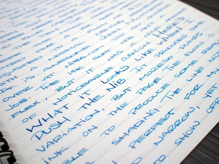 Nakaya Neo Standard Fountain Pen Handwritten Review