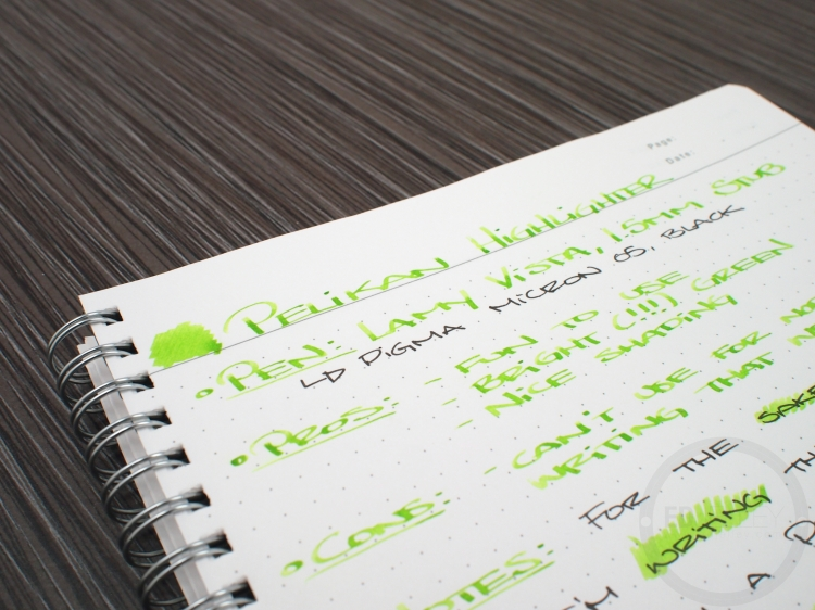 Pelikan M205 Duo Highlighter Green Fountain Pen Ink Review