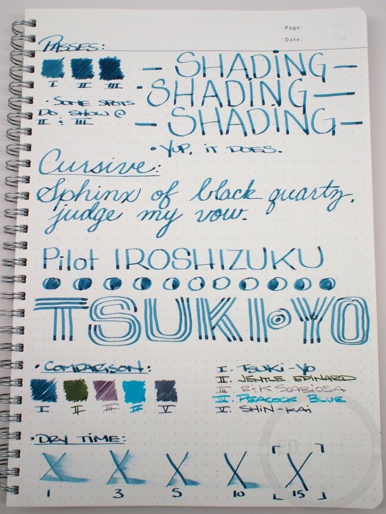 Pilot Iroshizuku Tsuki-yo Fountain Pen Ink Review