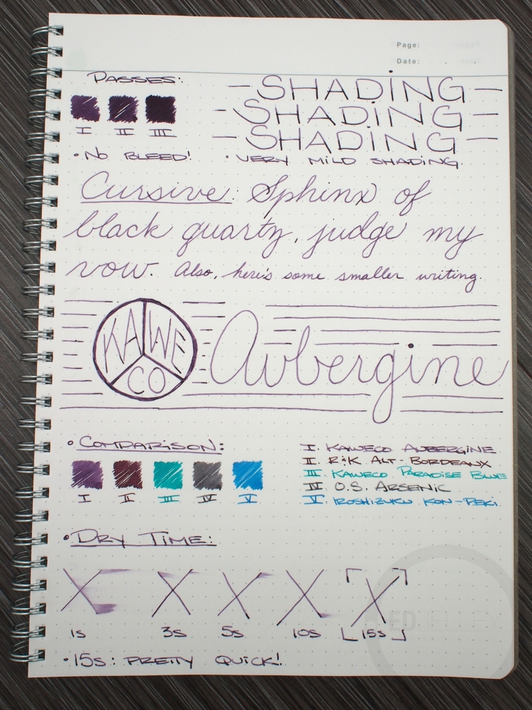 Kaweco Aubergine Fountain Pen Ink Review 2