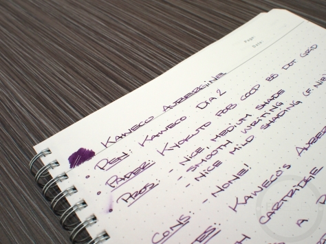 Kaweco Aubergine Fountain Pen Ink Review 3